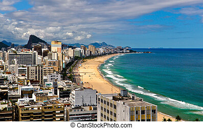 Rio de Janeiro - Ipanema district and beach in Rio de...