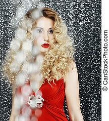 Allure. Glossy Stylish Woman - Glitter. Magnetism