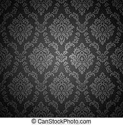 Seamless royal damask wallpaper