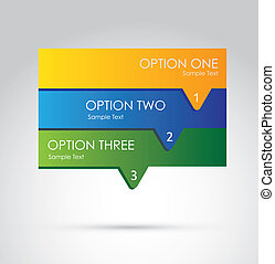 infographics options over gray background vector...