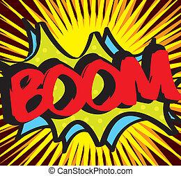 colorful boom icon