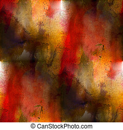 art avant-garde background red, yellow hand paint seamless...