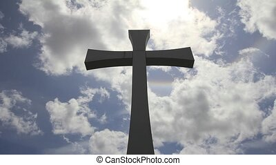 Crucifix Cross and Clouds Timelapse - Crucifix Cross with...