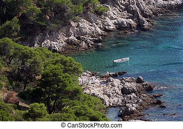 Blue Lagoon on Adriatic coast