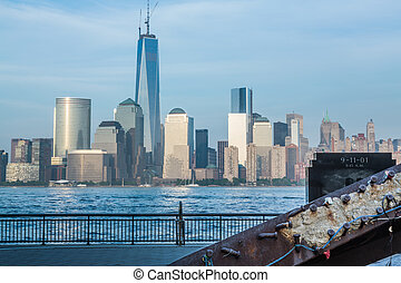 9-11-01 Memorial at Exchange Place Jersey City