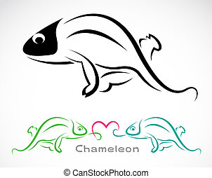 Vector image of an chameleon