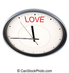 time for love - isolated on white background, focus point on...