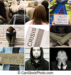 bad news about crisis - made from my images and photos ,...