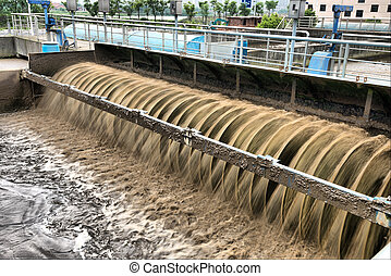 Sewage treatment plant - Modern urban wastewater treatment...