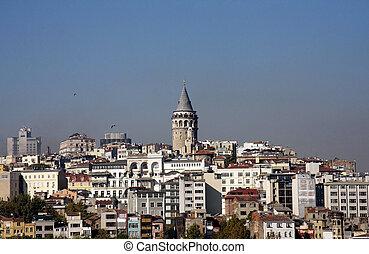 Beyoglu, Istanbul, Turkey - View over Beyoglu, Istanbul,...
