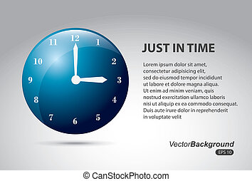 just in time icon over gray background vector illustration