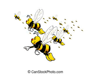 enxame, abelha
