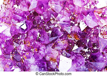 Amethyst is a violet variety of quartz often used in jewelry