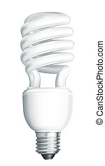 Energy saving lamp, vector