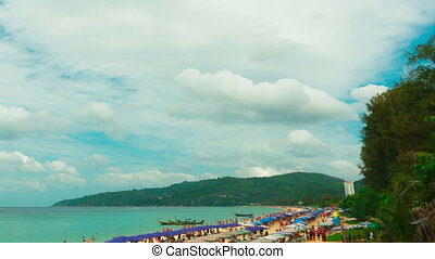 Phuket beach - View to the beach of Phuket Island, Thailand...