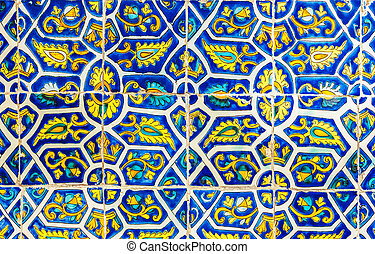 Tiled abstract background - Mexican floral tile abstract...
