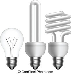 Light Bulb - Layered vector illustration of collected Light...