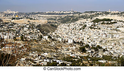 View of holy city Jerusalem , Israe
