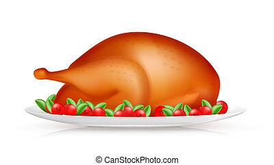 Roasted Turkey, vector
