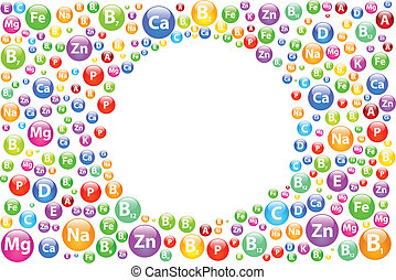 Vitamin Background With Circle Frame