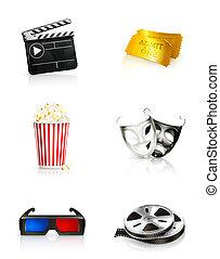 Film, icon set