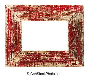 vendimia, rojo, imagen, marco