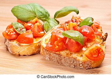Bruschette, italian appetizer
