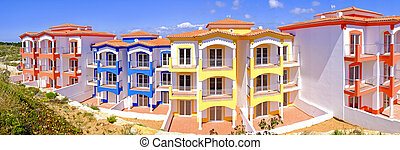 Colorful new  appartments in the countryside