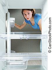 vacío, refrigerador