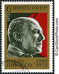 USSR - 1973: shows Pablo Picasso (1881-1973), Painter - USSR...