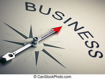 Business Consulting Strategy Management - Needle of a...