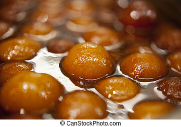 Indian sweet dish called quot; gulab jamun quot; - Indian...