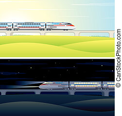 High Speed Train Pictures Illustration