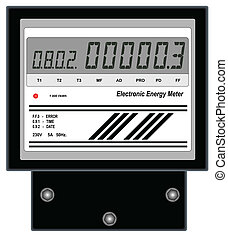 Electronic Energy Meter - Illustration of electronic energy...