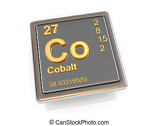 Cobalt. Chemical element. 3d