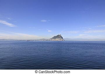 Gibraltar from the Straits of Gibraltar