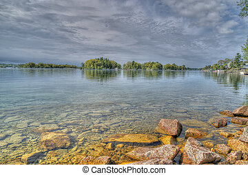 St Lawrence River View - Landscape view of St Lawrence River...
