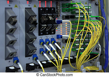 Patch panel - Data patch panel connection and digital...