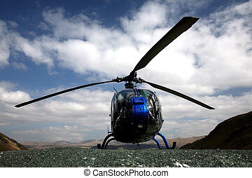 Rescue Services - Emergency Services - Blue Helicopter