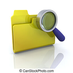 Search icon - 3D computer icon for search