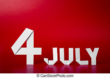 True paper cut of American Independence Day 4th July