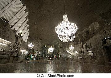 Wieliczka salt mine - Hall in Wieliczka salt mine Poland