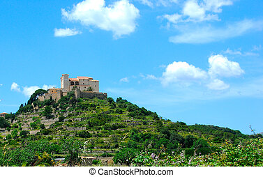 majorca - old castle in arta on the island mallorca spain