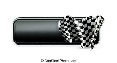 Racing banner flag