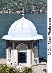 Melzi, lago, Italia, chalet,  como