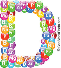 Vitamin Letter D Illustration