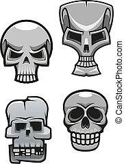 Set of monster skull mascots