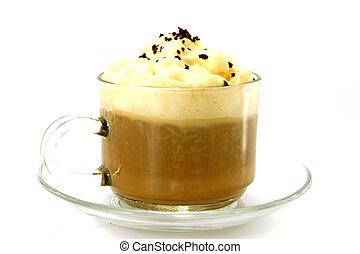café, creme,  arabica, Brasileiro, verdadeiro, chicoteado