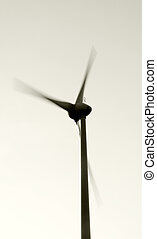 Wind turbine - A spinning pinwheel in the wind....