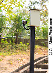 Security camera in the park